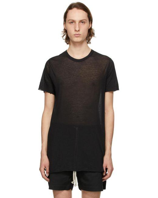 メンズ Rick Owens ブラック Basic T シャツ Black