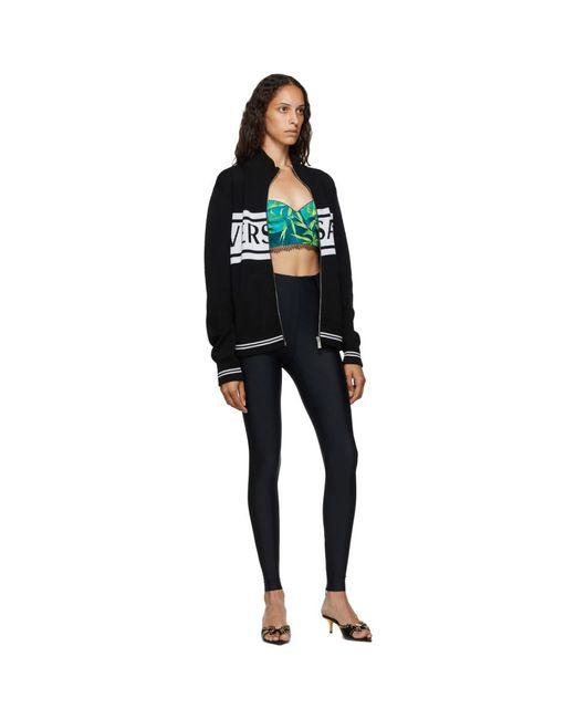 Versace ブラック And ホワイト ロゴ セーター Black