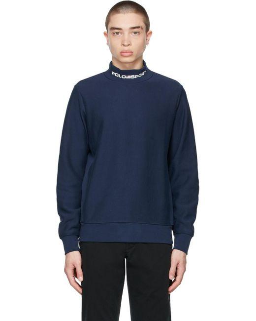 メンズ Polo Ralph Lauren ネイビー ロゴ スウェットシャツ Blue