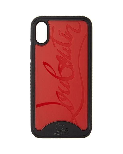 メンズ Christian Louboutin ブラック And レッド Loubiphone スニーカー Iphone X/xs ケース Red