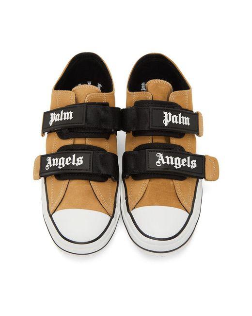 メンズ Palm Angels ベージュ バルカナイズ スニーカー Natural