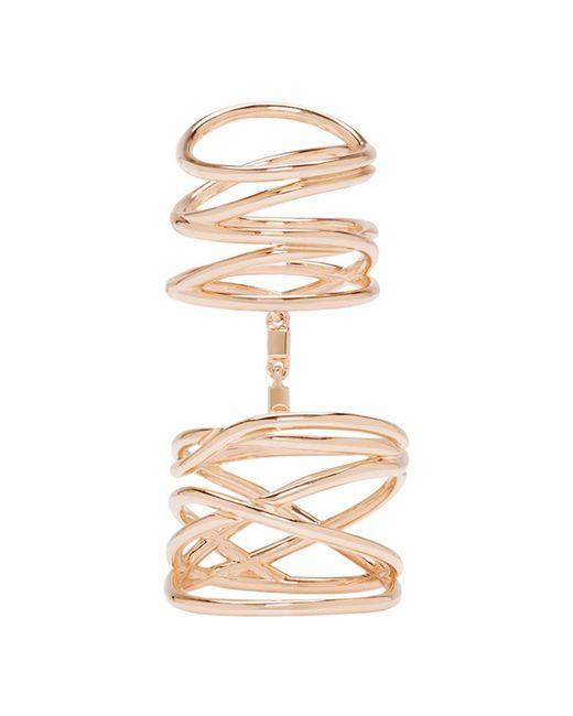 Repossi - Metallic Rose Gold Twin Ring - Lyst