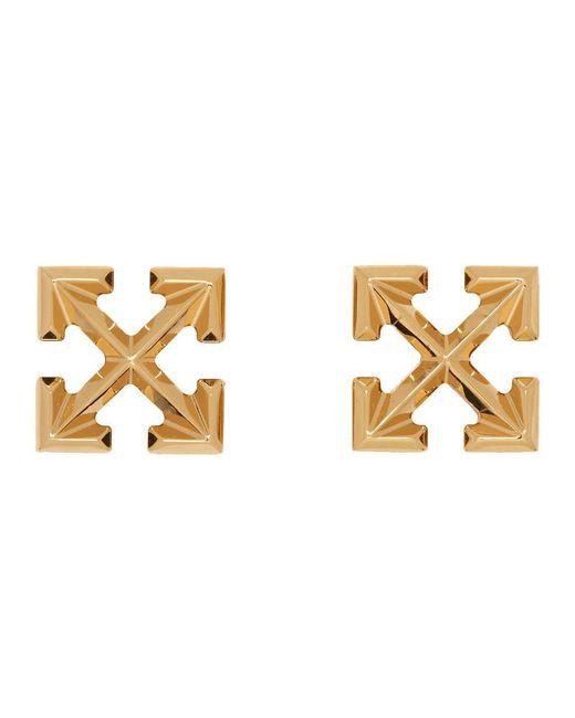 Off-White c/o Virgil Abloh Metallic Arrow Earrings