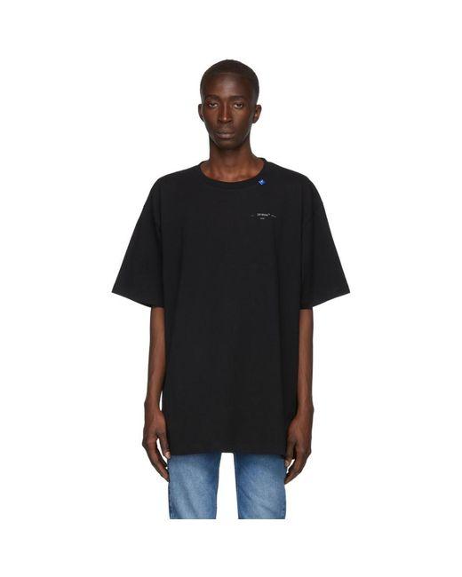 メンズ Off-White c/o Virgil Abloh ブラック And シルバー オーバーサイズ Unfinished T シャツ Black