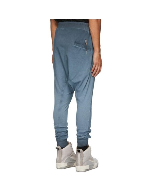 Boris Bidjan Saberi Blue Long John Lounge Pants for men