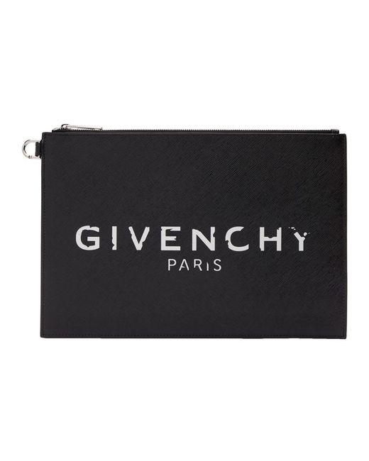 Givenchy ブラック Paris アイコニック ポーチ Black