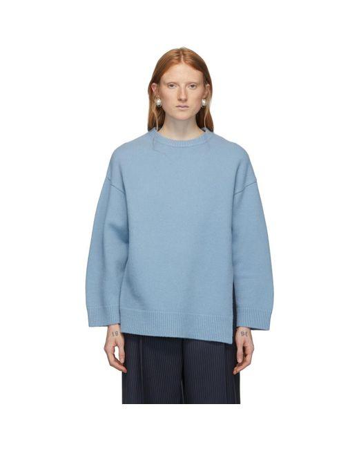 Ports 1961 ブルー ウール Fully Fashioned セーター Blue