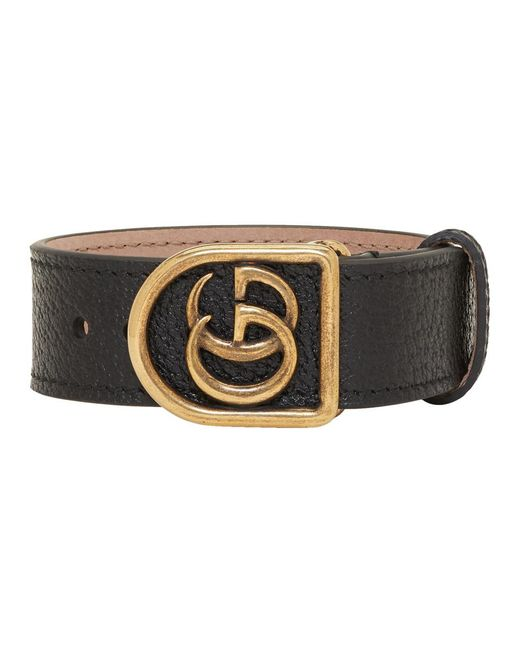 Gucci - Black Gg Marmont Bracelet for Men - Lyst