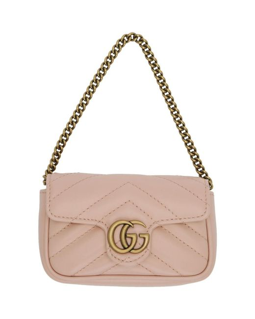 Gucci ピンク GG マーモント コイン ケース バッグ Pink