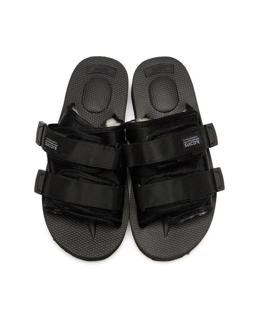 bddc843cd3d3 Suicoke Black Calf-hair Moto-m Sandals in Black for Men - Lyst