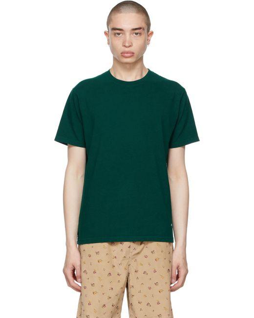 メンズ Noah NYC グリーン リサイクル コットン T シャツ Green