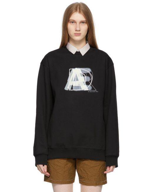 ADER ERROR ブラック ロゴ スウェットシャツ Black