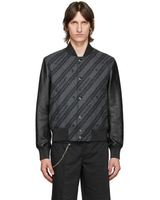 メンズ Givenchy ブラック チェーン ボンバー ジャケット Black