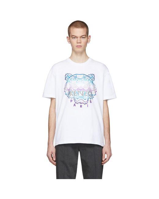 メンズ KENZO 限定エディション Holiday コレクション ホワイト タイガー T シャツ White