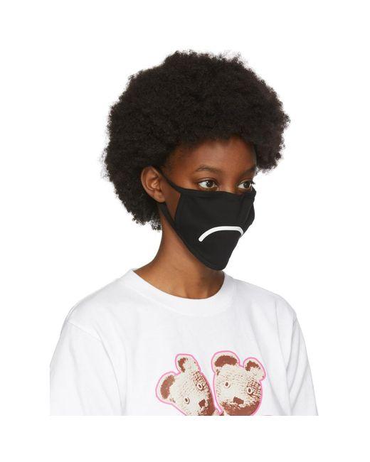 Marc Jacobs ブラック スマイリー フェイス マスク 3 枚セット Black