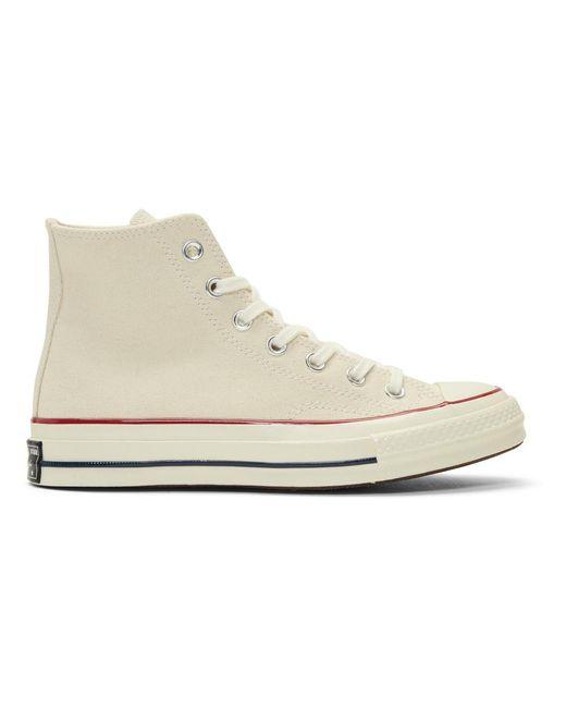 メンズ Converse オフホワイト Chuck 70 ハイ スニーカー White