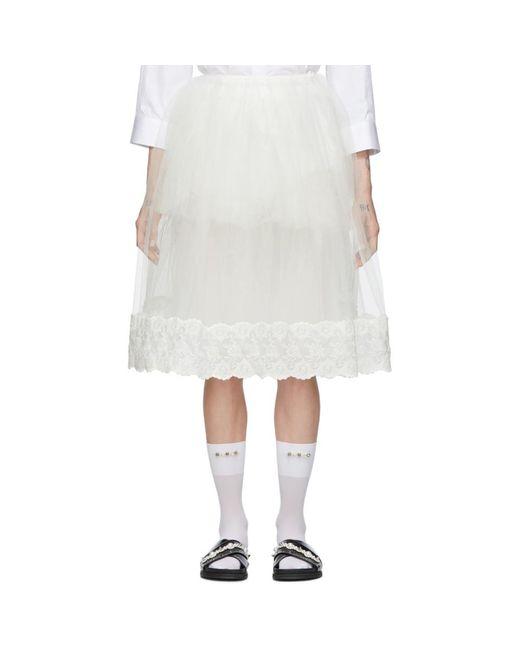 Simone Rocha オフホワイト チュチュ スカート White