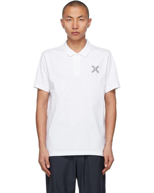 メンズ KENZO ホワイト Sport Little X ポロシャツ White