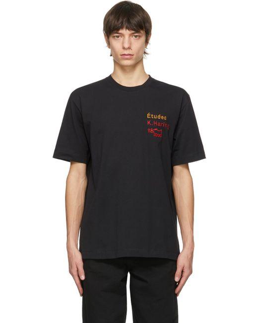 メンズ Etudes Studio Keith Haring エディション ブラック Wonder T シャツ Black