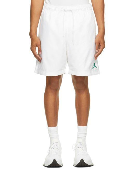 Nike White Jordan Jumpman Poolside Shorts for men