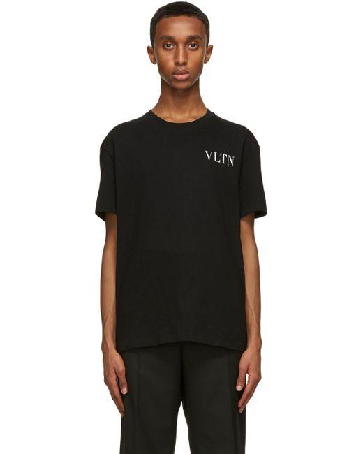 メンズ Valentino ブラック Vltn T シャツ Black