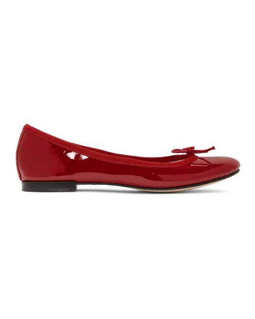 Repetto - Red Patent Cendrillon Ballerina Flats - Lyst