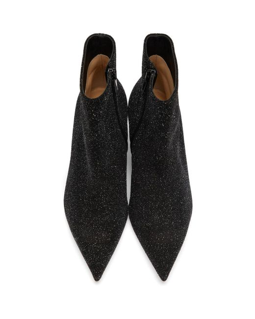Christian Louboutin ブラック グリッター So Kate 55 ブーツ Black