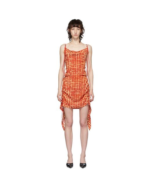 CHARLOTTE KNOWLES レッド Coil ショート ドレス Red