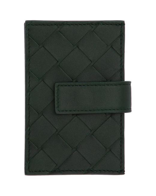 メンズ Bottega Veneta グリーン マルチ カード ホルダー Green