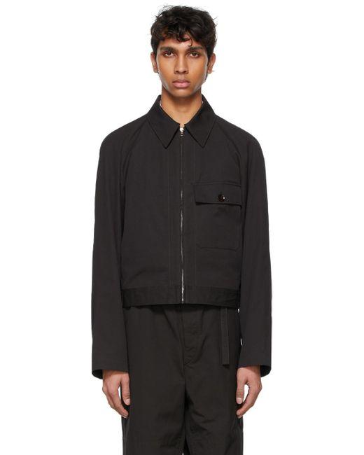 メンズ Lemaire ブラック ミリタリー ブルゾン ジャケット Black