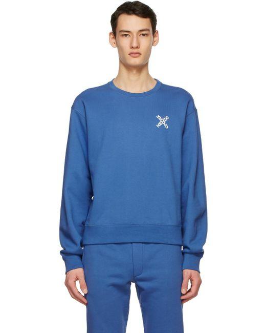メンズ KENZO ブルー Sport Little X スウェットシャツ Blue