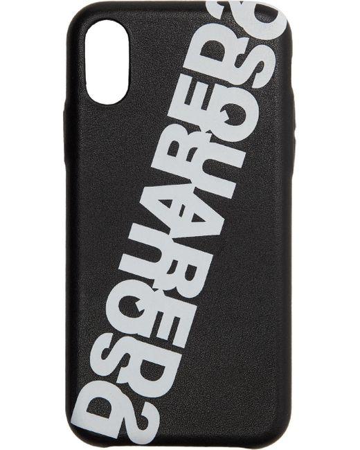 メンズ DSquared² ブラック Ecopelle Iphone Xs ケース Black