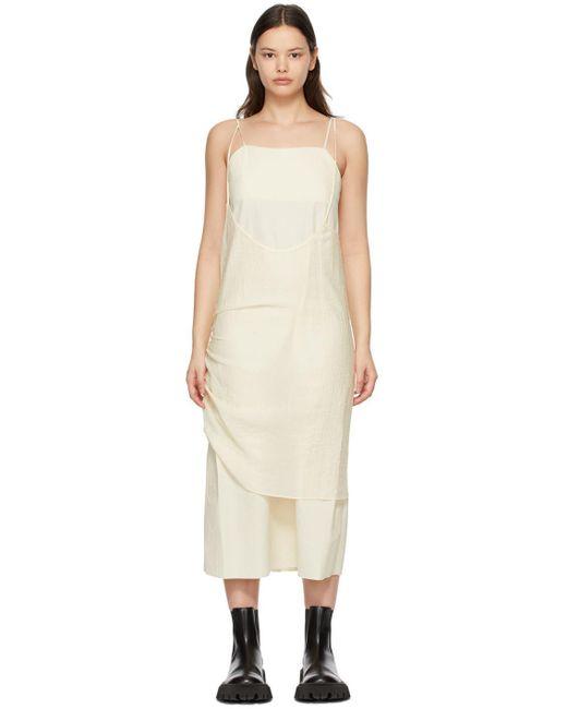 ADER ERROR オフホワイト レイヤード ドレス White