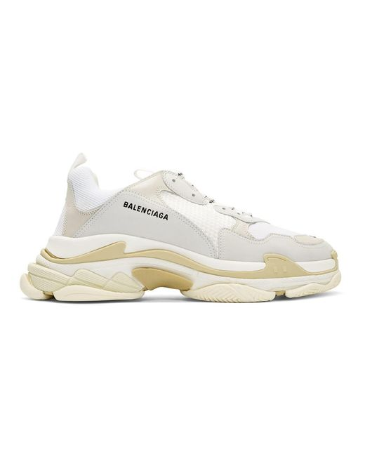 Balenciaga White Triple S Sneakers for men