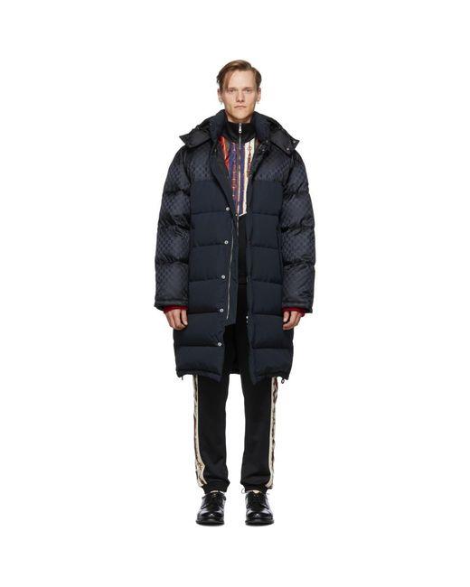 Manteau en duvet noir GG Supreme Gucci pour homme en coloris Black