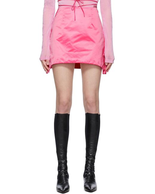 Helmut Lang ピンク ミニスカート Pink