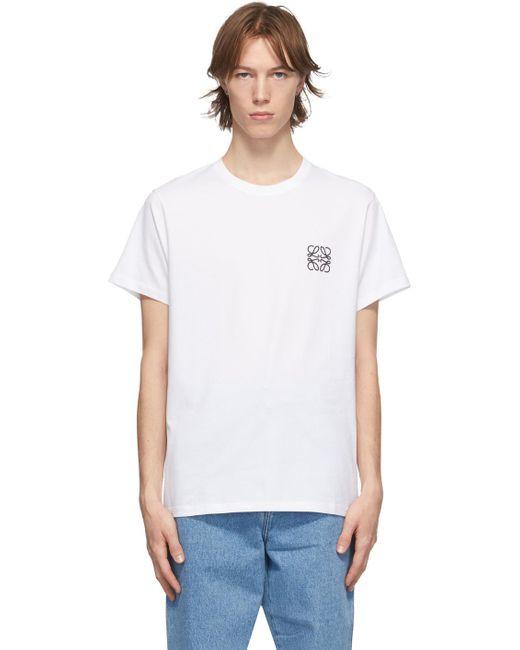 メンズ Loewe ホワイト Anagram T シャツ White