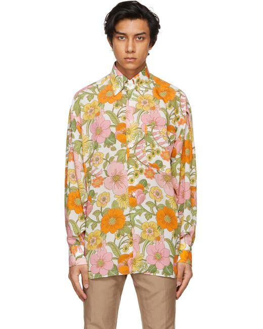 メンズ Tom Ford マルチカラー フローラル シャツ Multicolor