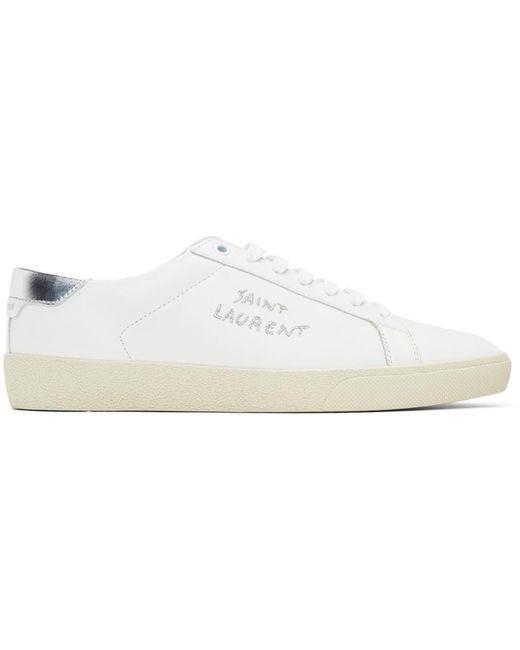 Saint Laurent White Court Classic Sl/06 Sneakers for men
