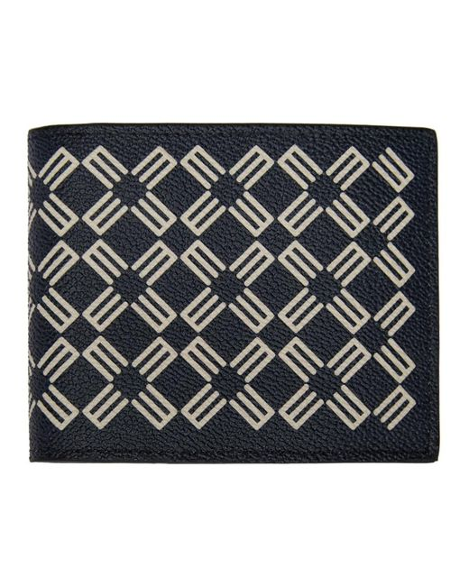 メンズ Etro ネイビー ロゴ パターン ウォレット Blue