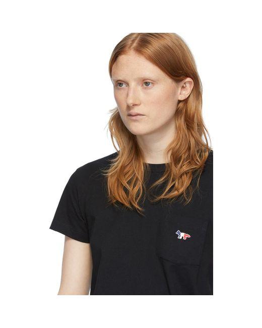 Maison Kitsuné ブラック ポケット T シャツ Black