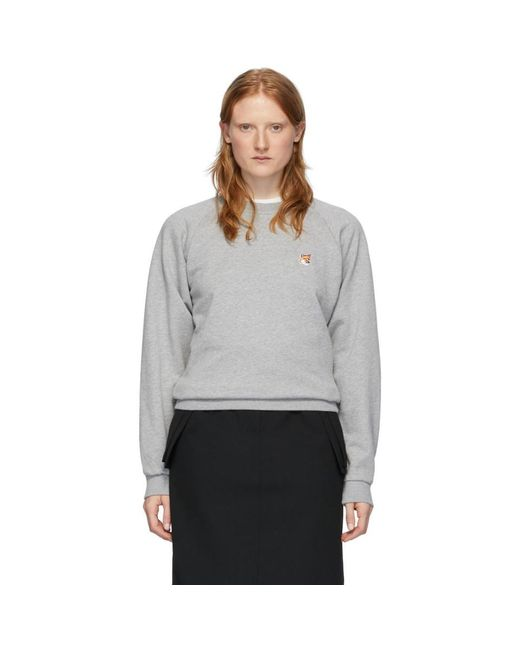 Maison Kitsuné グレー Fox Head スウェットシャツ Gray