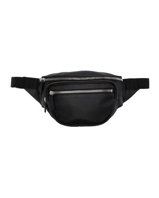 メンズ Maison Margiela ブラック レザー ベルト バッグ Black