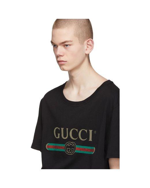 メンズ Gucci コットンジャージーtシャツ Black