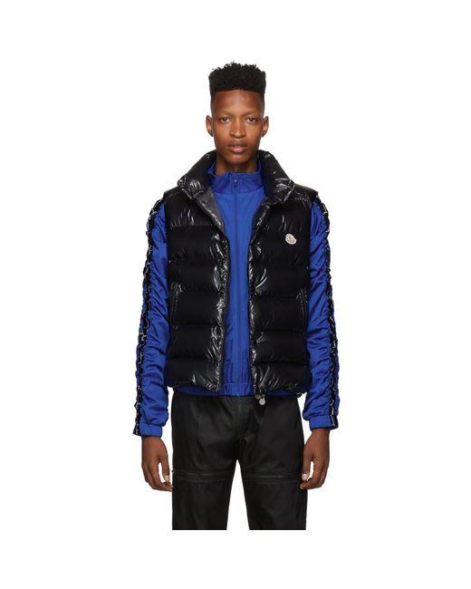 Moncler Black Down Tib Vest for men