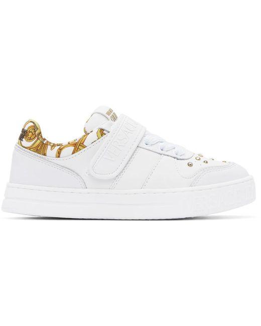 Versace Jeans ホワイト Barocco Court 88 スニーカー White