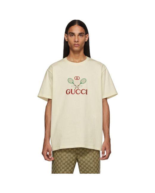 メンズ Gucci ホワイト GG テニス クラブ T シャツ White