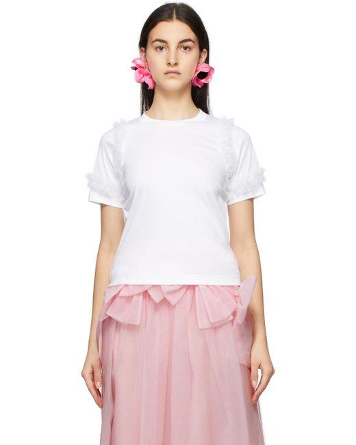 Noir Kei Ninomiya ホワイト Tulle Sleeves T シャツ White