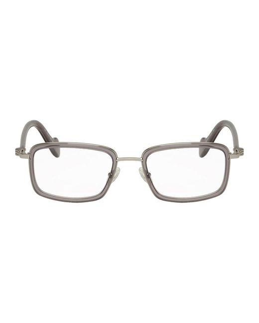 メンズ Moncler シルバー And グレー Ml 5026 グラス Gray