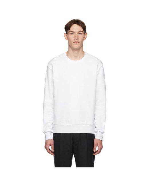 メンズ Thom Browne ホワイト Rwb ストライプ スウェットシャツ White